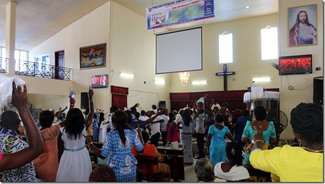Presbyterian White Jesus watches us dance
