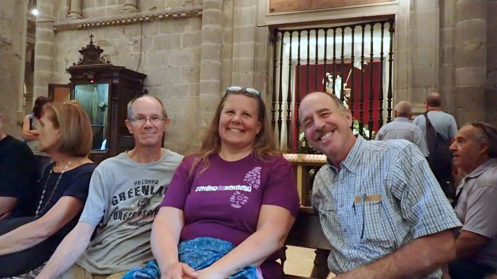 Hans, Jannette, & Steve waiting for Mass to start