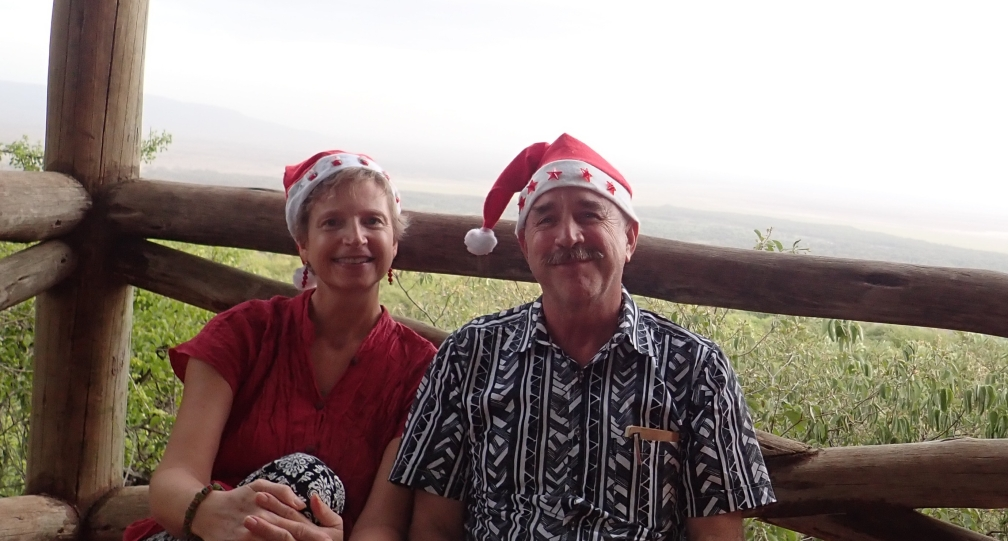 Steve & Suzanne Christmas Day 2017 overlooking Lake Manyara
